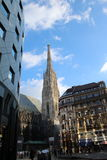 Stephansplatz,维也纳 免版税库存图片