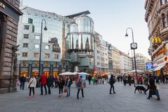 Stephansplatz, Вена, Австрия стоковое фото