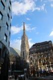 Stephansplatz, вена Стоковое Изображение RF