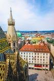 Stephansplatz bij de oude stad van Wenen royalty-vrije stock foto