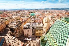 Stephansplatz and cityscape of Vienna Stock Image