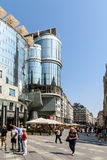 Stephansplatz fyrkant i Wien Arkivfoton