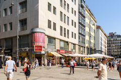 Stephansplatz fyrkant i Wien Royaltyfria Foton