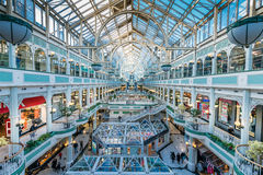 Stephen's Green Shopping Centre, Dublin. Dublin, Ireland - 26 Feb 2017: Stephen's Green Shopping Centre, Grafton Street,  the most prestigious shopping and Royalty Free Stock Image