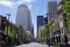 Stephen Avenue in downtown Calgary, Alberta, Can Stock Photo