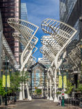 Stephen Avenue Galleria-Baumskulpturen Stockbilder