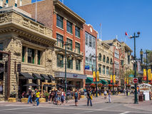 Stephen Avenue during Stampede. CALGARY, CANADA - JULY 13: Busy Stephen Avenue in Calgary during Stampede on July 13, 2014 in Calgary, Alberta Canada. This Stock Photography
