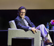"Stephen Colbert at the 2015 Montclair Film Festival. Comedian Stephen Colbert enjoys himself as the interviewer of ""In Conversation with Richard Gere,"" which Stock Images"