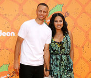 Stephen Curry en Ayesha Curry stock foto
