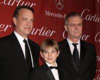 Stephen Daldry, Tom Hanks, corno del Thomas Fotografia Stock Libera da Diritti