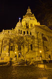 stephen för saint för basilicabudapest natt sikt Royaltyfri Bild