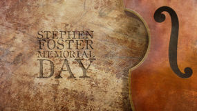 Stephen Foster Memorial Day. Wood. Stephen Foster Memorial Day. Violin and Wood Stock Photography