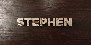 Stephen - grungy wooden headline on Maple  - 3D rendered royalty free stock image Stock Image