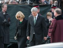 Stephen Harper at Jim Flaherty State Funeral in To Stock Photo