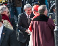 Stephen Harper at Jim Flaherty State Funeral in To Royalty Free Stock Photography