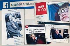 Stephen Hawking dör åldriga 76 Royaltyfria Bilder