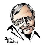 Stephen Hawking Portrait ilustração do vetor