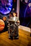 Stephen Hawking vaxdiagram i museum för madam Tussaud i London fotografering för bildbyråer