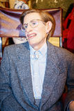 Stephen Hawking. Wax statue at the famous Madame Tussaud's museum in London. Photo taken on: Juillet 03rd, 2015 stock photo
