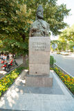 Stephen Karaca bust in the old part of Varna Royalty Free Stock Photography