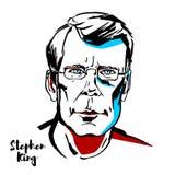 Stephen King Vector Portrait vektor illustrationer