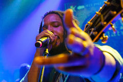 Stephen Marley. Prague, Czech Republic: Famous reggea singer and composer Stephen Marley played his czech premiere performance in absoltelly sold-out Lucerna royalty free stock photos