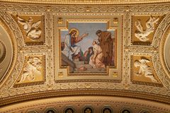 Stephen's Basilica in Budapest. Interior of St. Stephen's Basilica in Budapest, Hungary royalty free stock photos