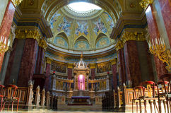 St. Stephens Basilica in Budapest Stock Photography