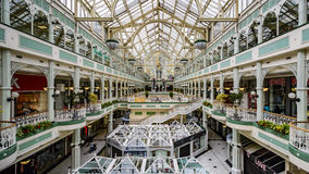 Stephen's Green Shopping Centre. Large indoor shopping centre located at the top of Grafton Street in the Southside of Dublin City Stock Photography