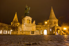 Stephen 1 statue at Fisherman's Bastion in Budapest Royalty Free Stock Photography