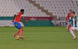 Stephen Sunday  in action during match league Cordoba vs Numancia Stock Images