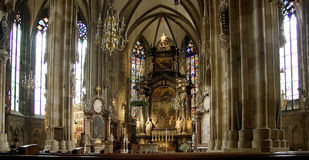 Stephens cathedral interior in vienna Royalty Free Stock Image