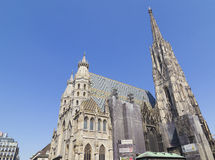 Stephens Dom in Vienna, Austria. Stephansdom (St. Stephen's Cathedral) is the mother church of the Archdiocese of Vienna and the seat of the Archbishop of Vienna Royalty Free Stock Photography