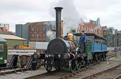 Stephensons Planetenlokomotive Stockbild