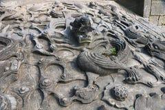 Steping до дворца bluestone имперского и высечь дракона облака стоковые изображения rf