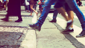 Steping in the sidewalk Royalty Free Stock Photography
