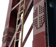 The Stepladder at the Column Stock Images