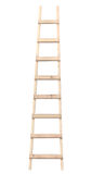 Stepladder d'isolement vertical d'échelle en bois Photos libres de droits