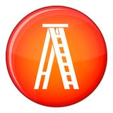 Stepladder icon, flat style Royalty Free Stock Photo