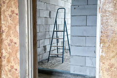 Stepladder in the room. During capital repair Stock Photos