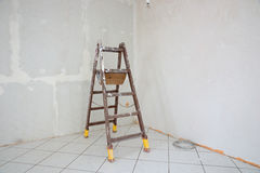 Stepladder standing in the room Royalty Free Stock Photography