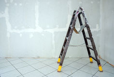 Stepladder standing in the room Royalty Free Stock Photos