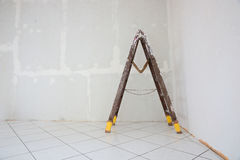 Stepladder standing in the room Stock Photos