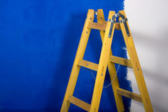 Stepladder used for painting Royalty Free Stock Images