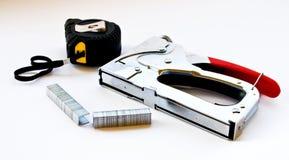 Stepler y ruleta Imágenes de archivo libres de regalías