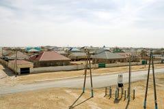 Stepowa wioska Fotografia Stock