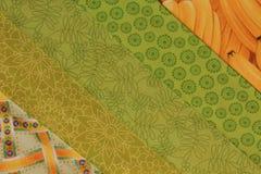 Steppdecke Block-gelb und grün Stockfoto