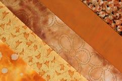 Steppdecke Block-orange Lizenzfreie Stockbilder