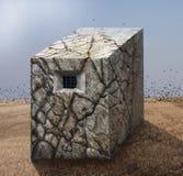 Steppe de fenêtre de prison Image stock