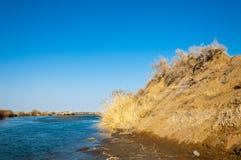 Steppe de rivière au printemps Images stock